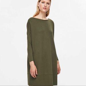 Amazing COS square cut oversized dress green XS S